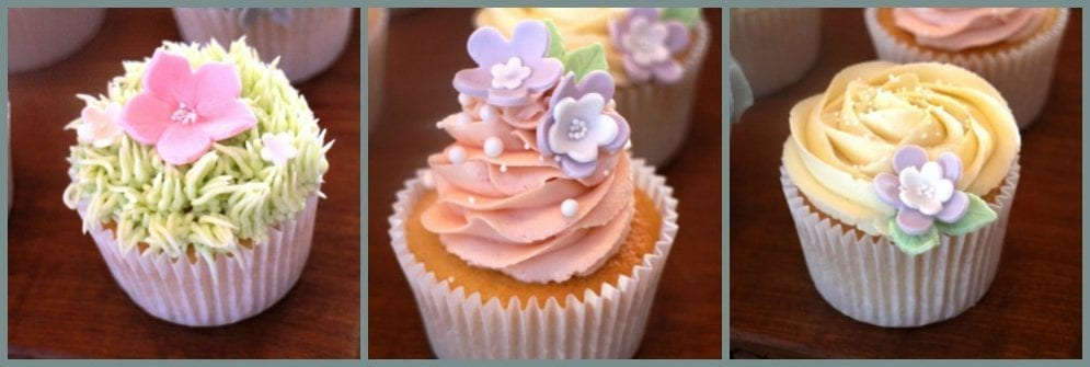 Flowers & Swirls Cupcake Class – Fully Booked