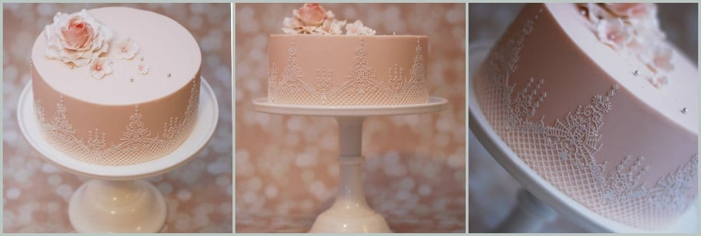 Ganache & Lace Single Tier Cakes